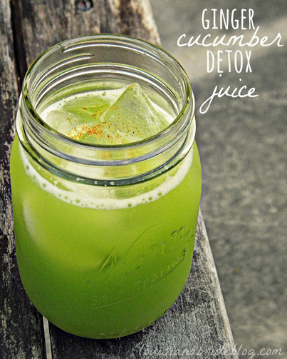 How To Make A Healthy Ginger Cucumber Detox Juice