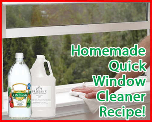 How To Make Homemade Natural Window Cleaner