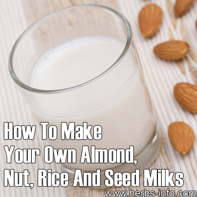 How To Make Your Own Almond Nut and Seed Milks
