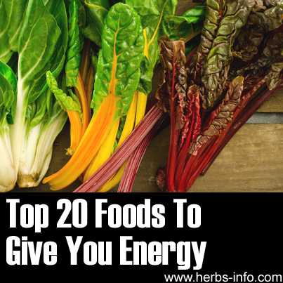 Top 20 Foods to Give you Energy