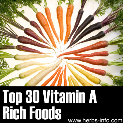 Top 30 Vitamin A Rich Foods