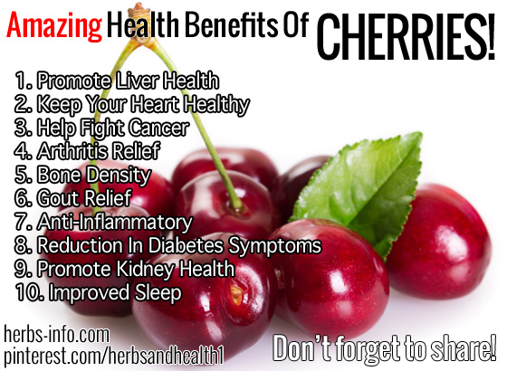 Amazing Health Benefits Of Cherries