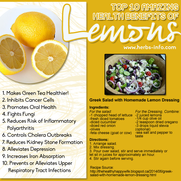 Top 10 Amazing Health Benefits Of Lemons