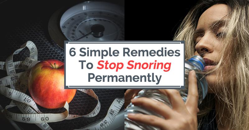 Stop Snoring Using Natural Remedies
