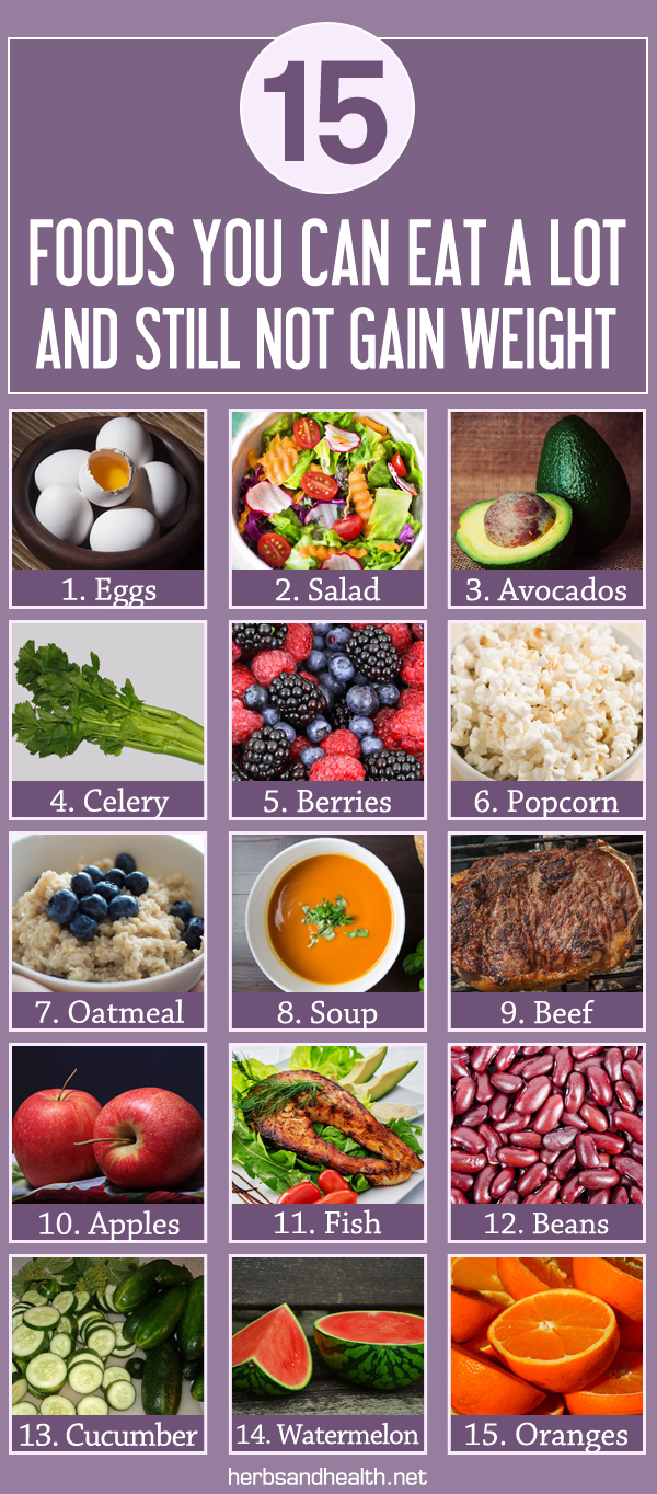 15 Foods You Can Eat A Lot Of And Still Not Gain Weight