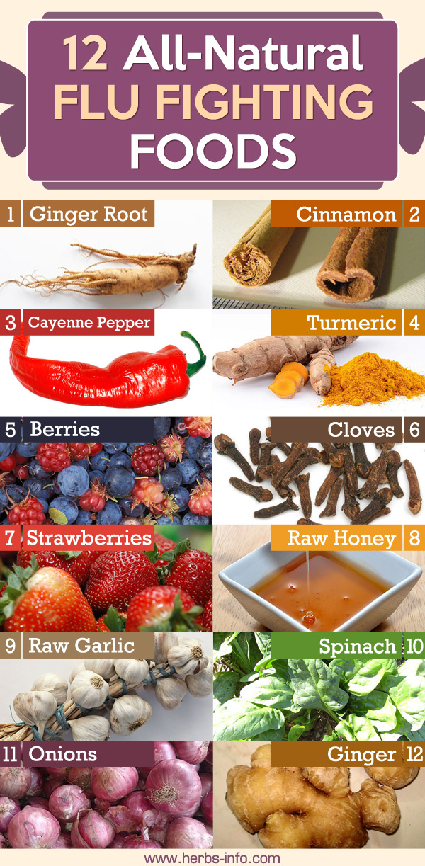 Top 12 All-Natural Flu Fighting Foods