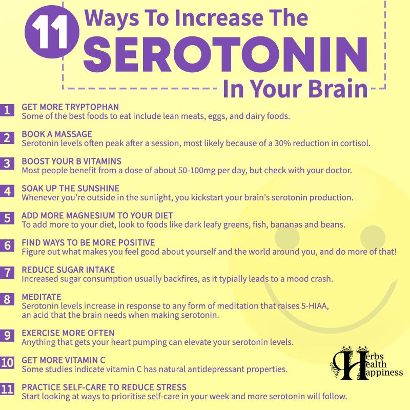 11 Ways To Increase The Serotonin In Your Brain