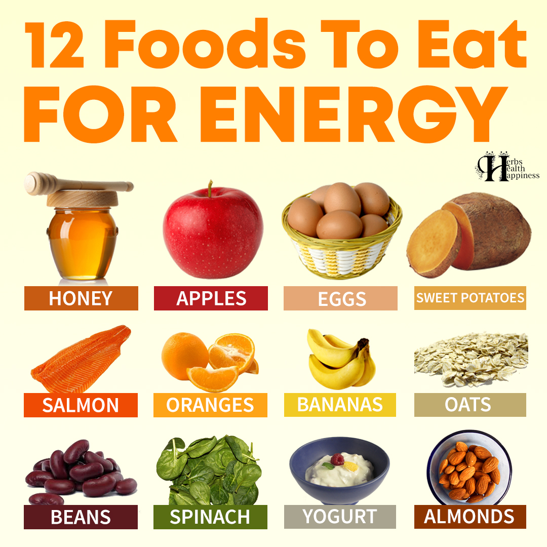 12 Foods To Eat For Energy