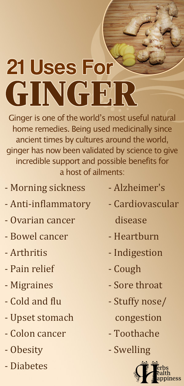 21 Uses For Ginger
