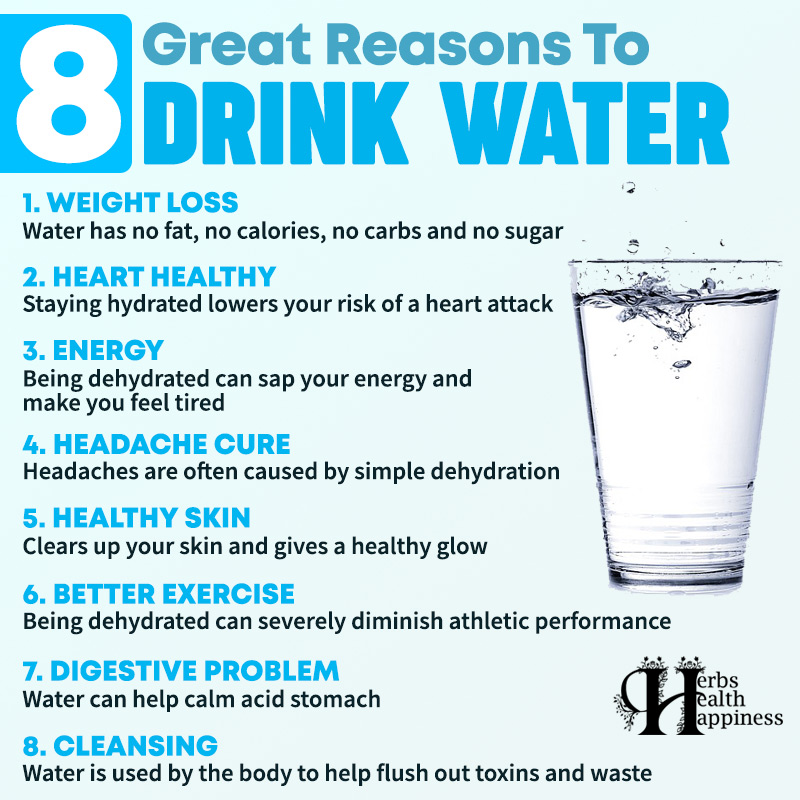 8 Great Reasons To Drink Water