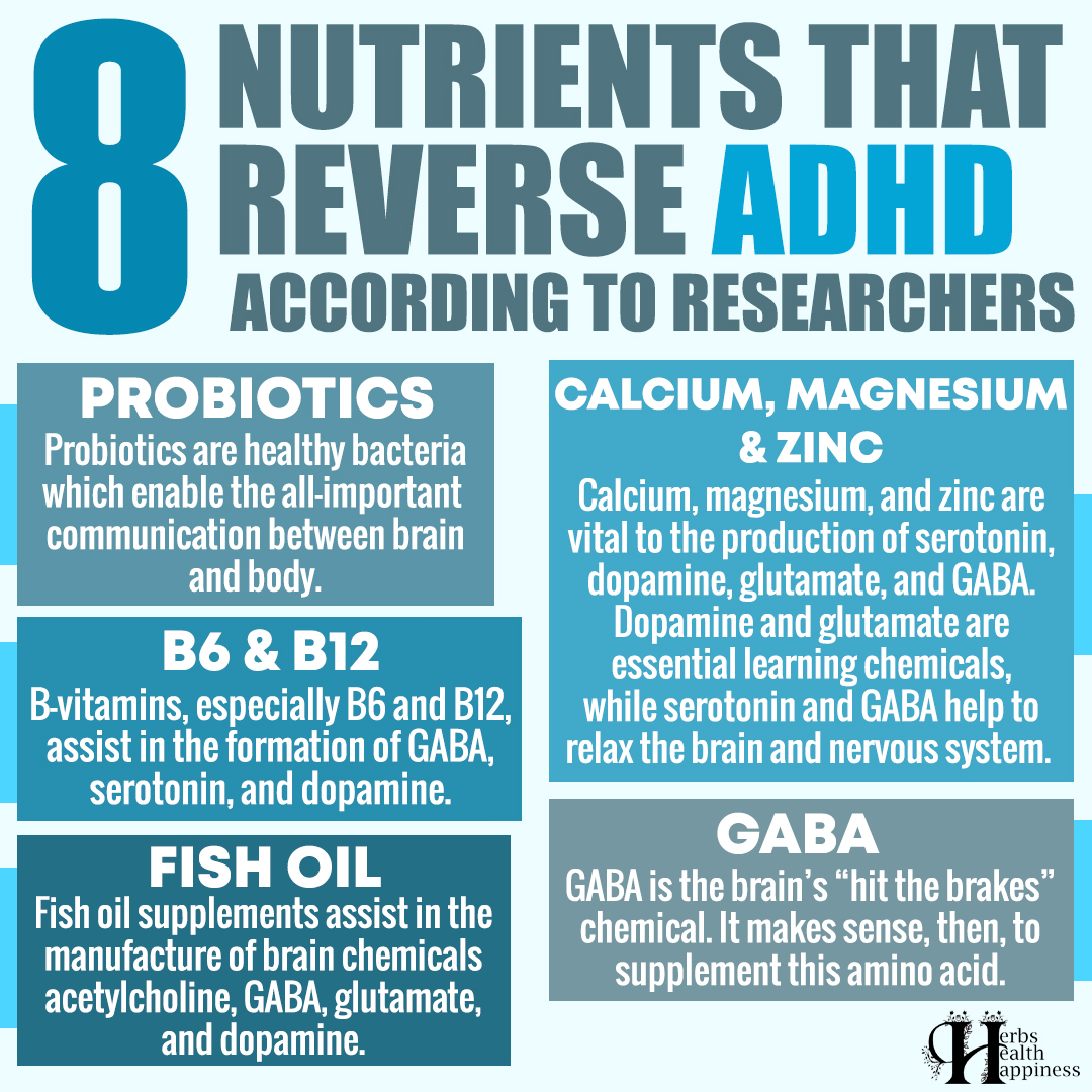 8 Nutrients That Reverse ADHD According To Researchers