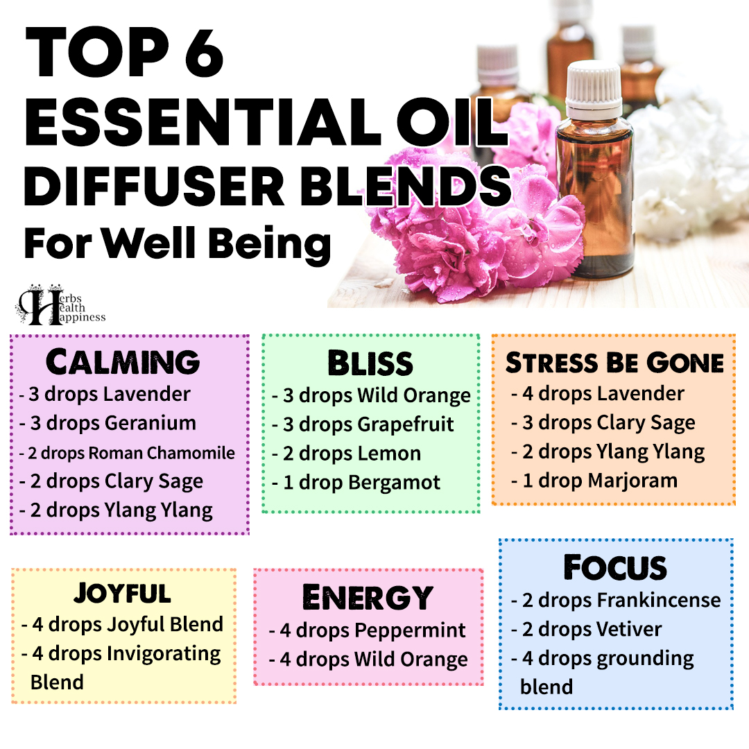 Top 6 Essential Oil Diffuser Blends For Well Being