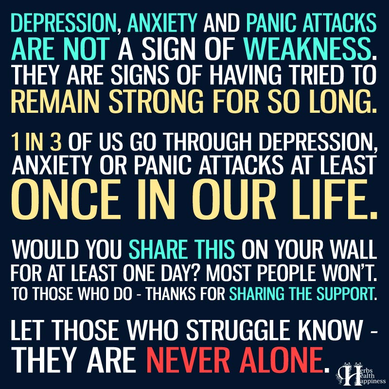 Depression, Anxiety and Panic Attacks