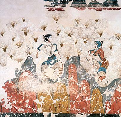 Saffron Aegean fresco