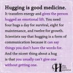Hugging Is Good Medicine